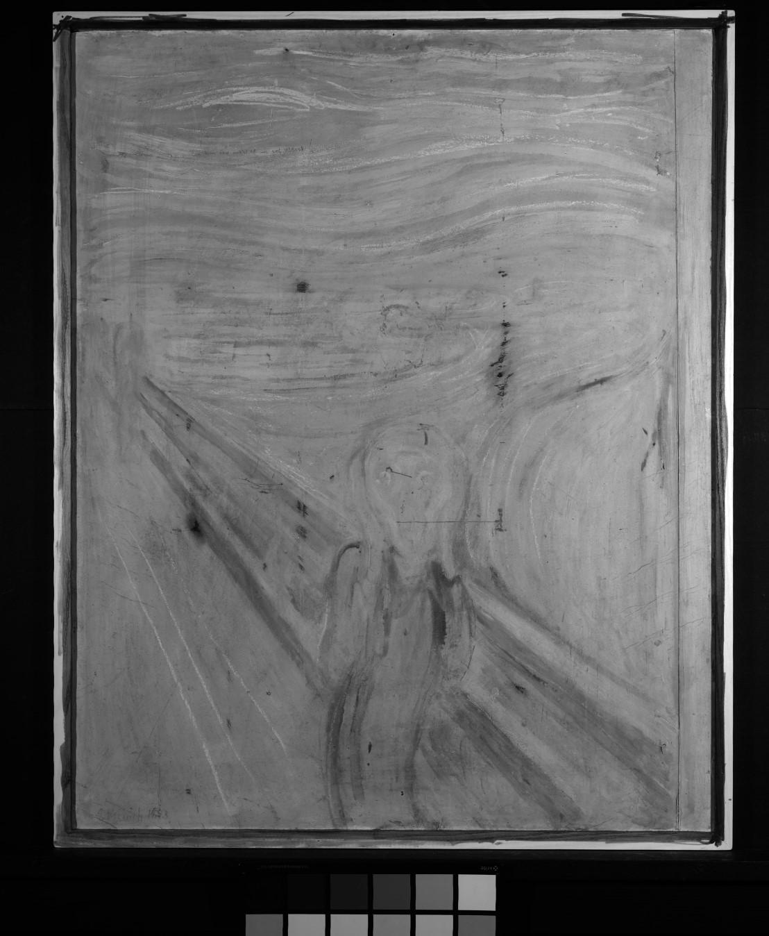 Foto infravermelha do quadro 'O Grito', de Edvard Munch