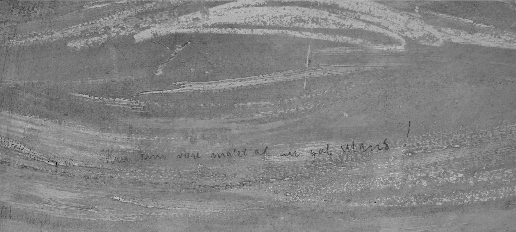 Foto infravermelha do quadro 'O Grito', de Edvard Munch, revela frase escondida