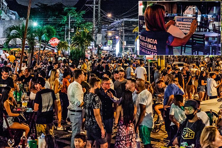 CRIME E CASTIGO -Noite carioca: na sexta-feira 19, a prefeitura multou bares por muvuca na calçada e interditou uma festa -