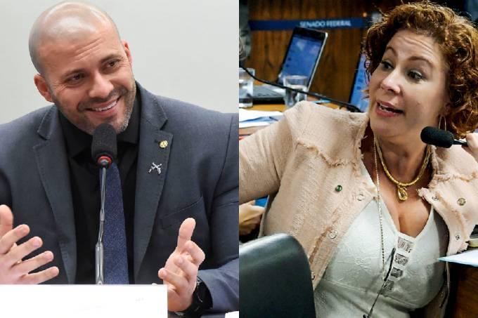 Daniel Silveira e Carla Zambelli