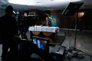 Jair Bolsonaro durante pronunciamento em rede nacional -