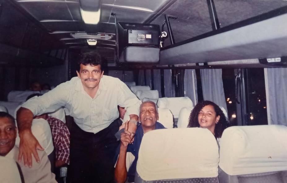 A caminho do partida entre Vasco e Peñarol, no Maracanã, em 1997 -