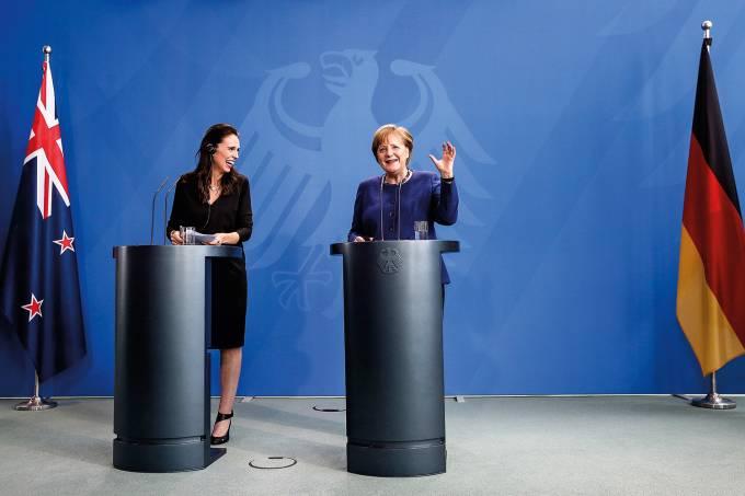 New Zealand Prime Minister Jacinda Ardern visits Germany