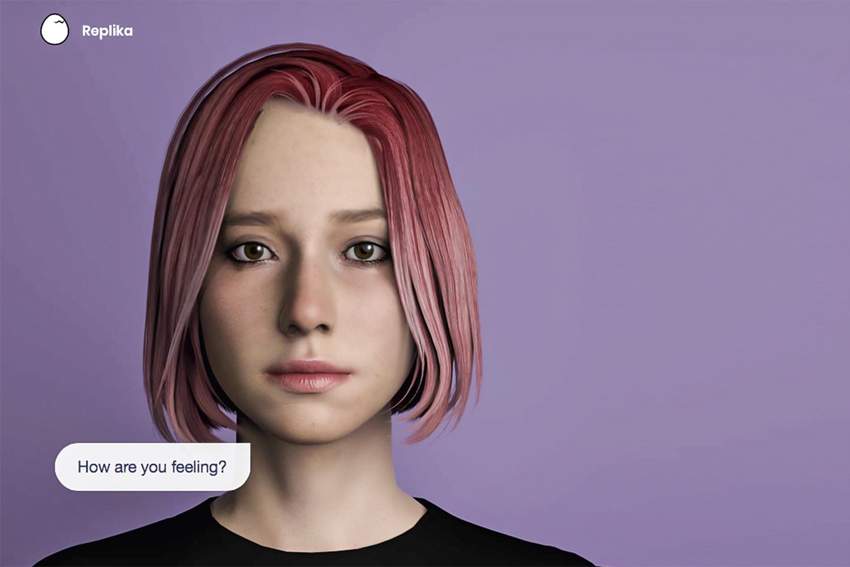 """AVATAR -""""Como você está se sentindo?"""": o programa do Replika simula conversas reais por mensagem de texto ou chamada telefônica -"""