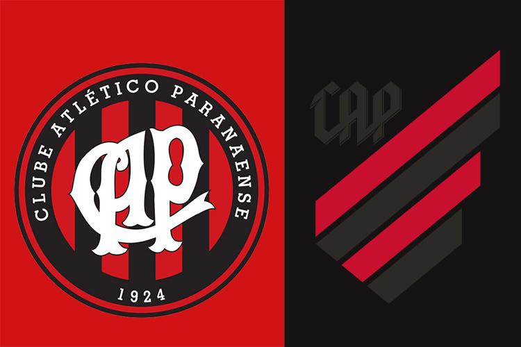 O antes e depois do escudo do Athletico Paranaense -