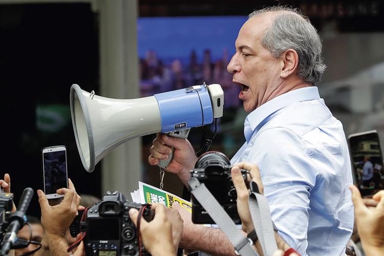 MUDANÇA DE ROTA- Ciro Gomes: a estratégia é atrair o centro e derrotar o PT -