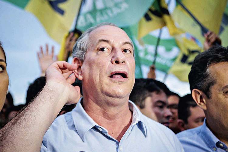 ISOLADO -Ciro: a presença de Lula enfraquece o poder aglutinador do pedetista -