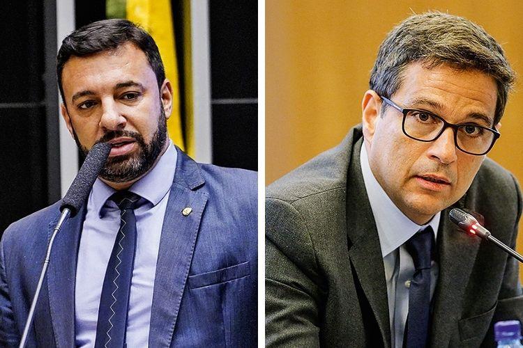 BOMBEIROS -O deputado Daniel Freitas e o presidente do BC, Campos Neto: acionados para evitar uma desidratação ainda maior do projeto -