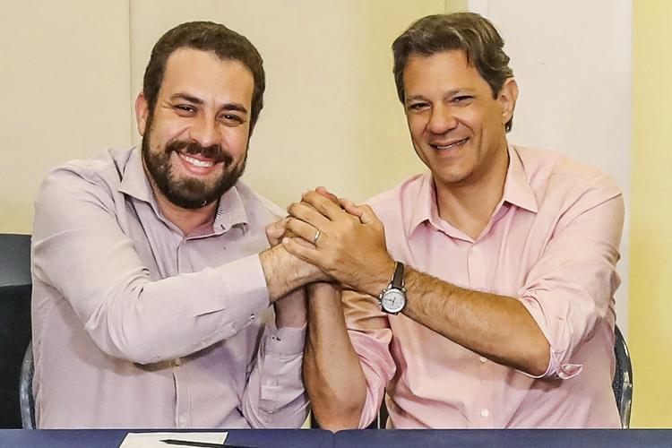 OUTRO PAPEL -Boulos e Haddad: possíveis candidatos viraram coadjuvantes -