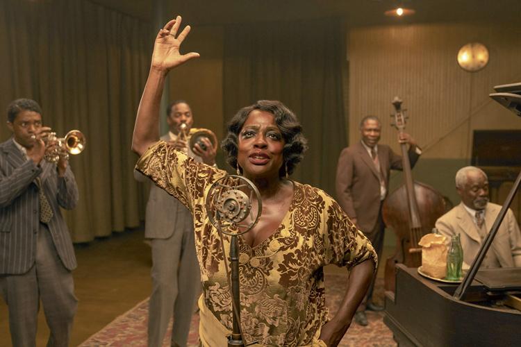 A VOZ SUPREMA DO BLUES - Indicações: ator (Chadwick Boseman), atriz (Viola Davis), design de produção, cabelo e maquiagem, figurino -