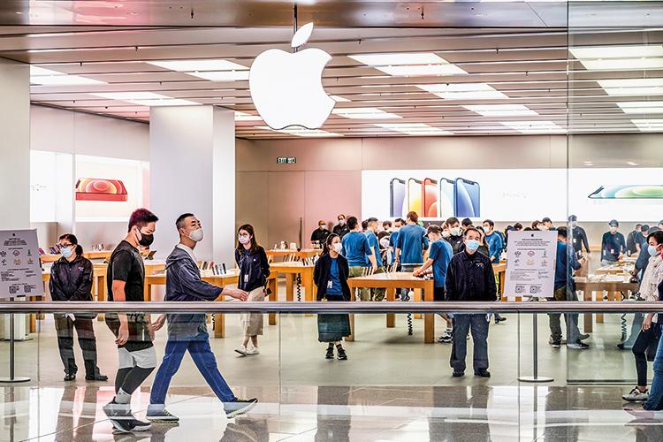 O C DO BRIC- Loja da Apple na China: o país asiático cumpriu o seu potencial nas últimas décadas, diferentemente do Brasil -