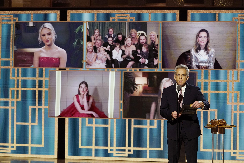 Ben Stiller apresenta categoria de melhor atriz em comédia ou musical no Globo de Ouro 2021