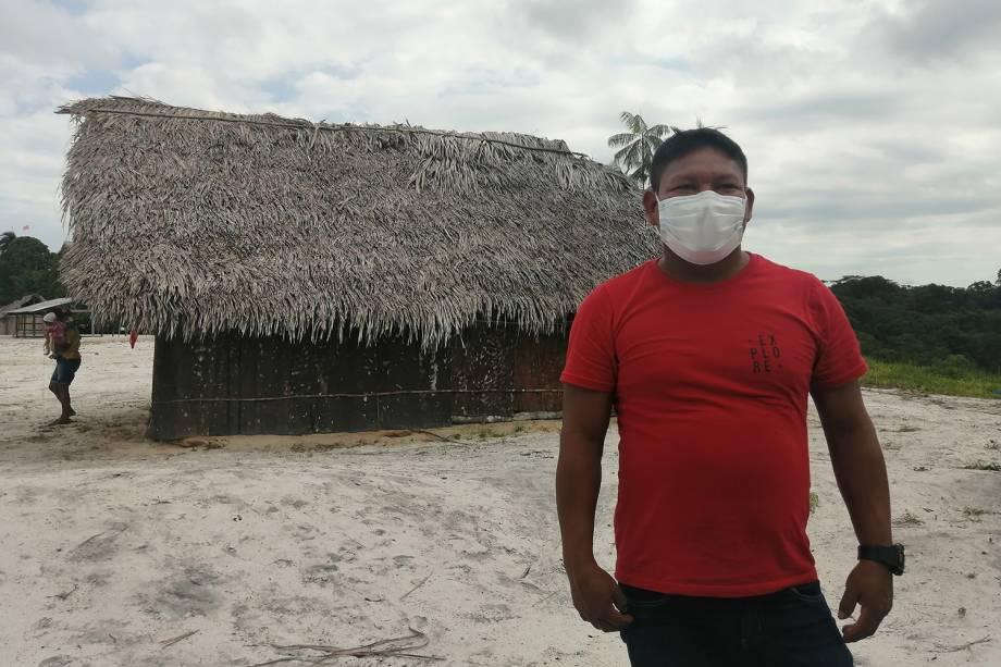 """""""Pensei: será que vai chegar aqui na nossa aldeia? E de repente chegou"""", disse Sabino Brasil Monteiro, de 35 anos -"""
