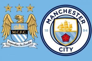 O antes e depois do escudo do Manchester City -