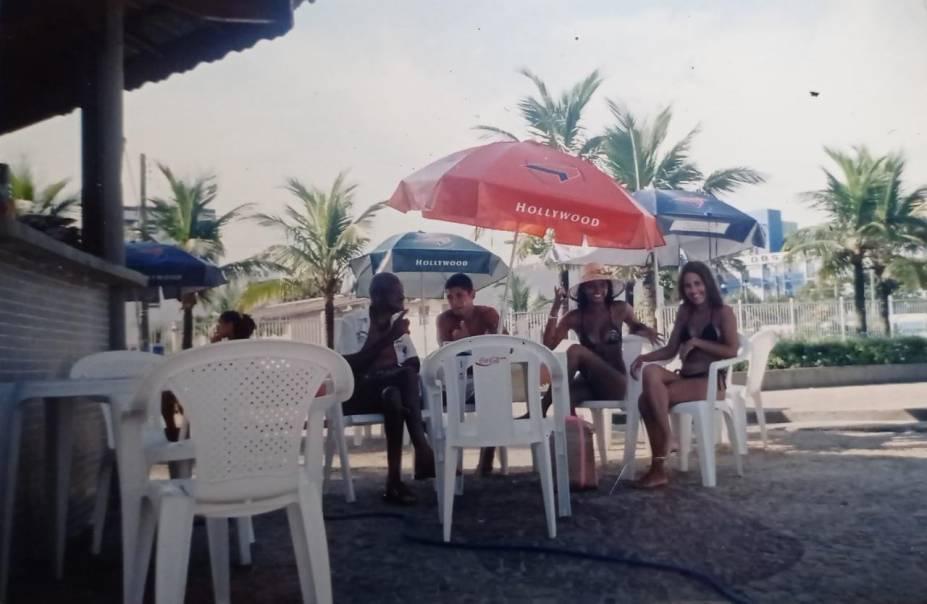No quiosque da filha Tereza Borba, no bairro Ocian, em Praia Grande -