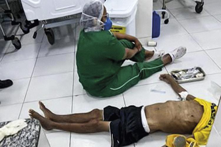 LEITO DE MORTE - Tragédia em Teresina, no Piauí: óbito de paciente no chão -