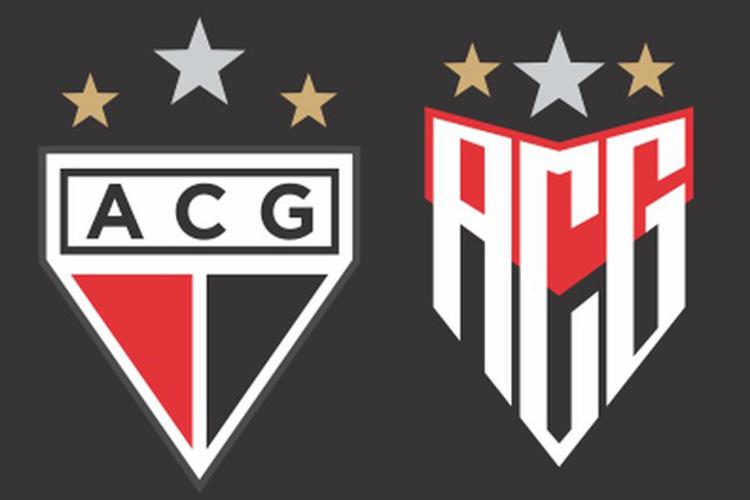 O antes e depois do escudo do Atlético Goianiense -