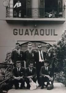 Em excursão pelo Vasco, em Guayaquil, no Equador, na década de 1960 –