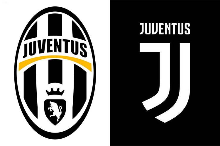 O antes e depois do escudo da Juventus -