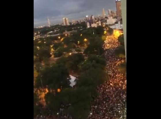 Protestos em Assunção, no Paraguai