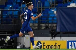 Pulisic, do Chelsea, abriu o placar da partida contra o Real Madrid -