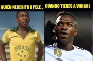 Uma dos memes quer circulou: 'quem precisa de Pelé quando tem a Vinigol?