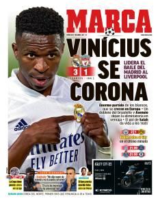 Capa do Diário Marca, da Espanha -