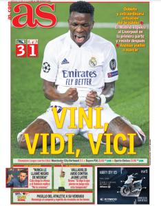 Capa do jornal Ás, da Espanha -