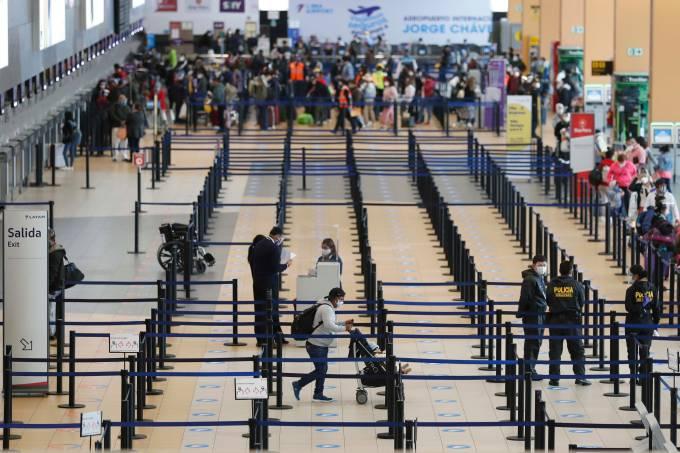 Aeroporto Internacional Jorge Chávez, em Lima, no Peru