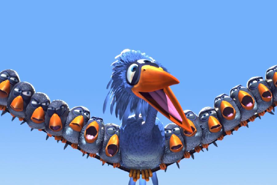 Cena do curta-metragem Coisas de Pássaro.