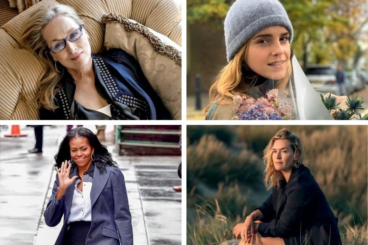 ATÉ ELAS -As muito bem-sucedidas Meryl, Emma, Kate e Michelle (em sentido horário): exposição de sua insegurança ao admitir que sofrem da incômoda sensação de incapacidade -