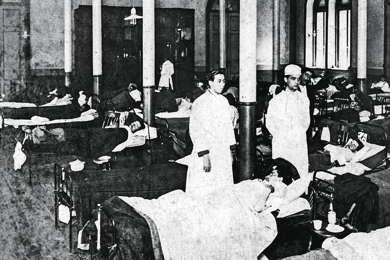 TRADIÇÃO -Hospital em São Paulo, em 1918: o país não tem cultura de filantropia -