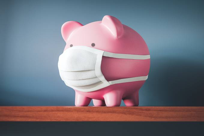 Piggy Bank with Face Mask