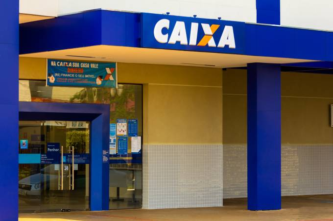 The Caixa Econômica Federal logo at one of its bank