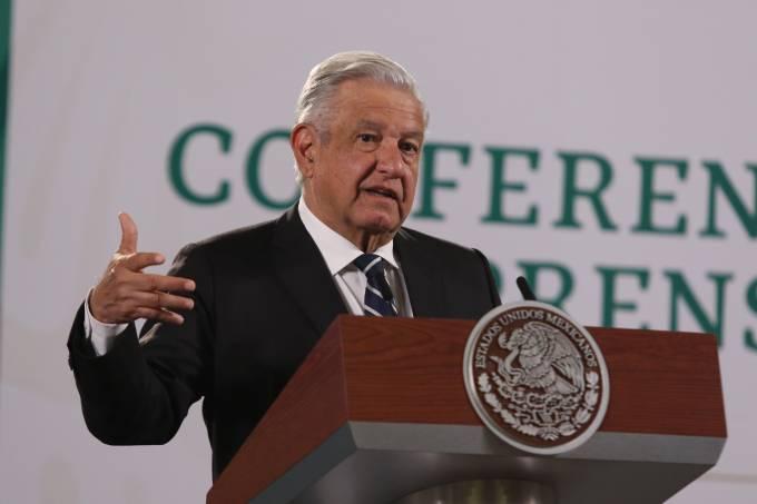 Mexicos President Lopez Obrador Briefing Conference