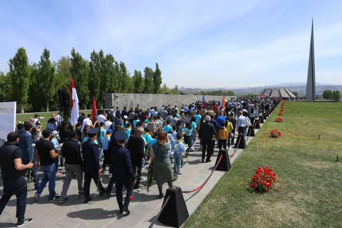Armenian Genocide Remembrance Day in Yerevan
