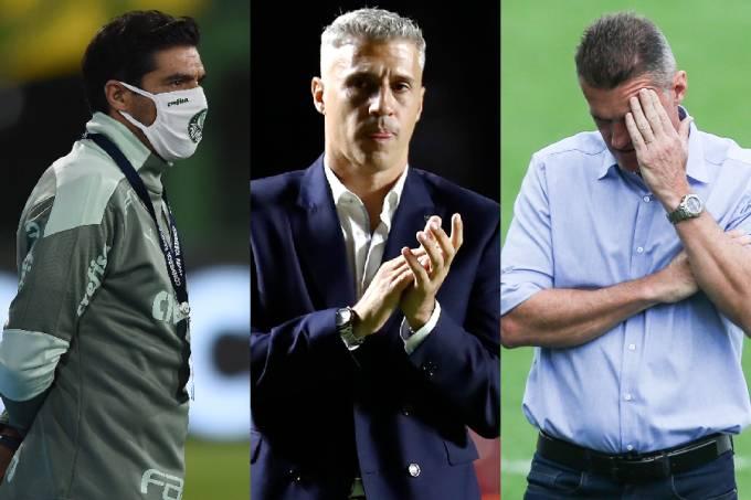 Abel Ferreira (Palmeiras), Crespo (São Paulo) e Mancini (Corinthians)