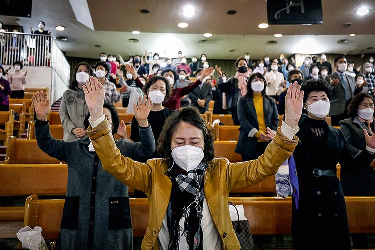 ZONA VERMELHA - Coreia do Sul: dos cultos saíram 60% dos casos iniciais -
