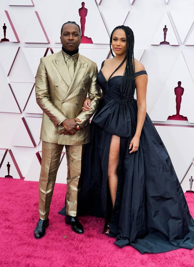 Leslie Odom Jr. e Nicolette Robinson chegam ao Oscar -