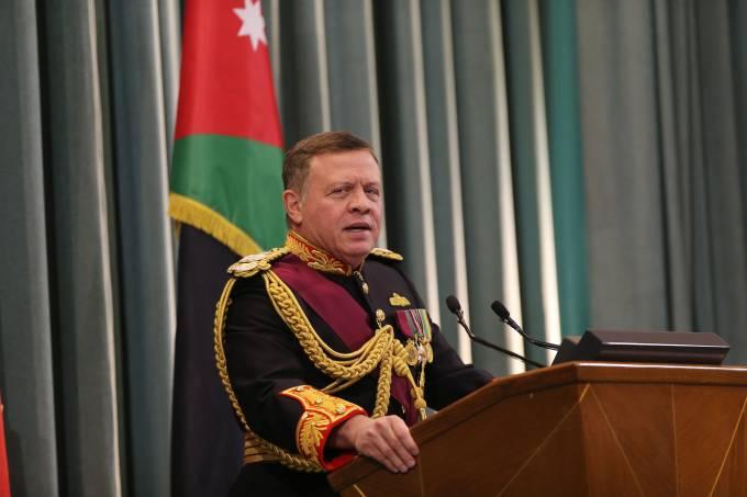 JOR: King Abdullah Attends State Opening Of Jordanian Parliament