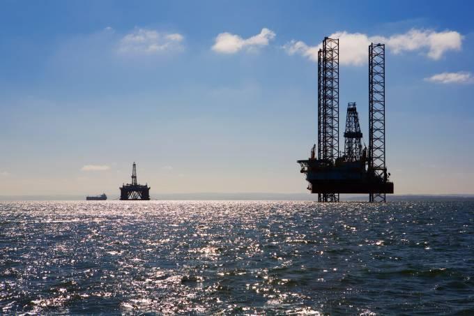 Oil rig in sea