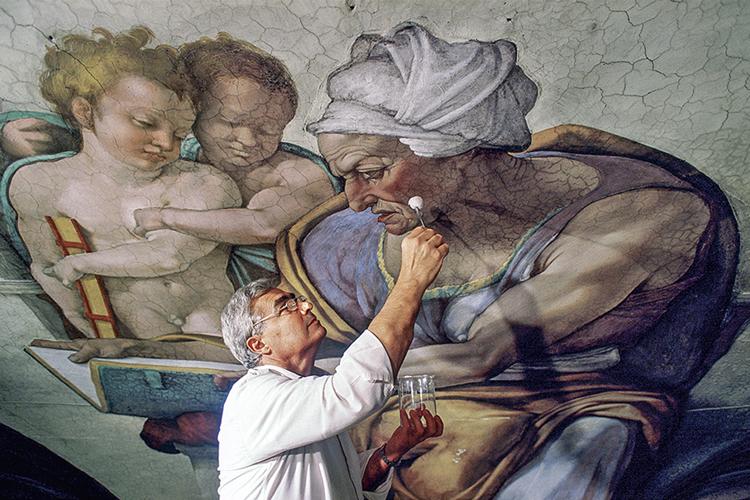 CAMADAS- O restaurador italiano: do jeito que Michelangelo pintou -