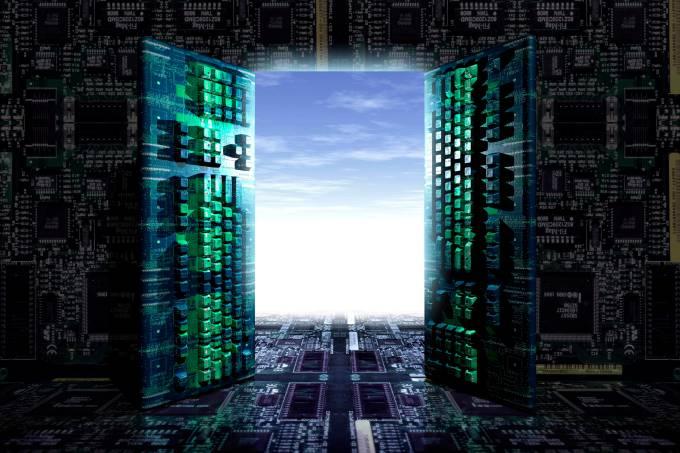 Illustration Computer Keybords, Digital Future.