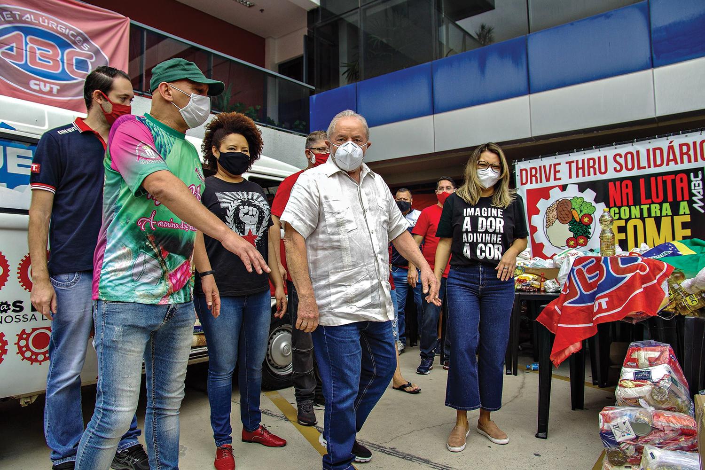 ADVERSÁRIO -Lula: obstáculo ao crescimento de Ciro -