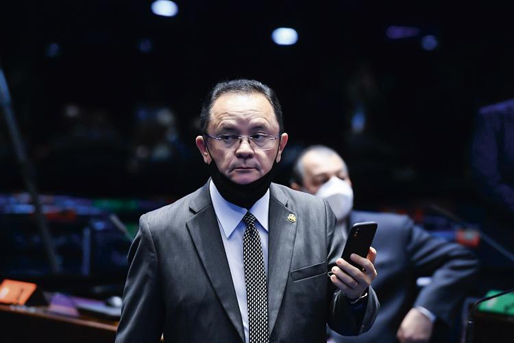 LOBBY -O senador Zequinha Marinho (PSC-PA): encontro dos madeireiros com o vice-presidente Hamilton Mourão -
