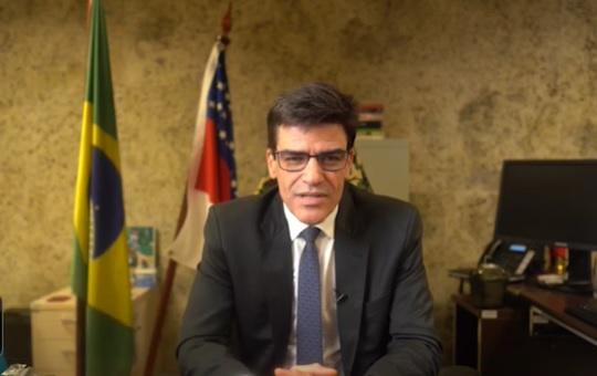 O delegado da PF Alexandre Saraiva