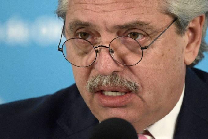 Alberto Fernández, presidente da Argentina, faz pronunciamento