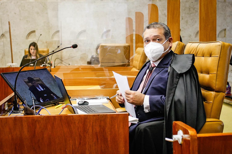 LIBEROU GERAL -Nunes Marques, que atropelou a autonomia de governadores e prefeitos: decisão barrada no plenário -