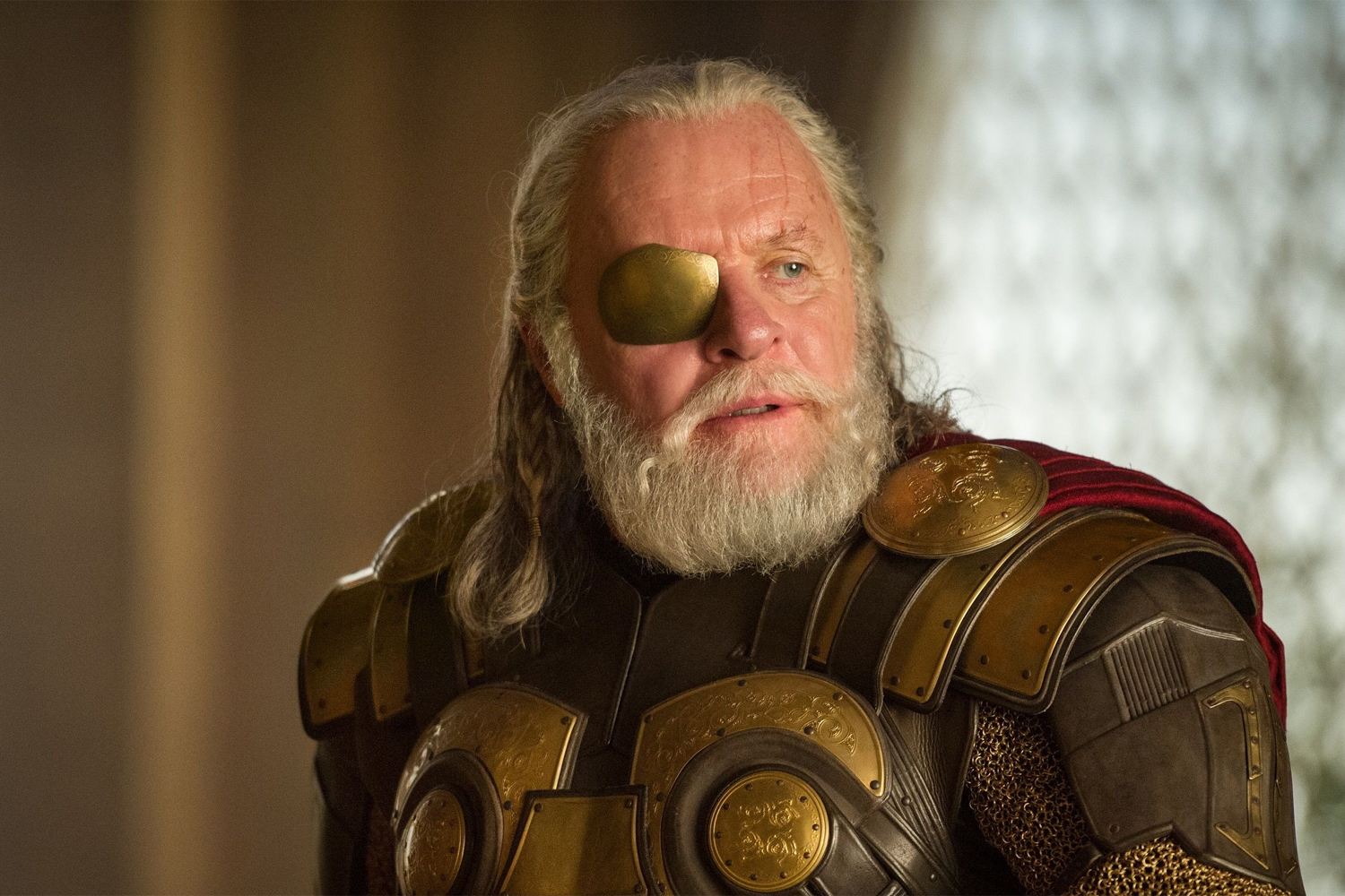O ator Anthony Hopkins como Odin, personagem da franquia 'Thor'