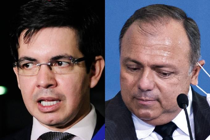 Randolfe Rodrigues e Pazuello